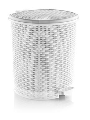 műanyag rattan mintázatú szemetes