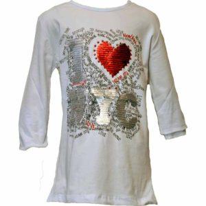 I Love NYC feliratú átfordítható flitteres pulóver, póló