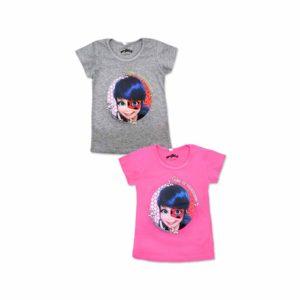 Miraculous, Ladybug, Katicabogár póló szürke, rózsaszín