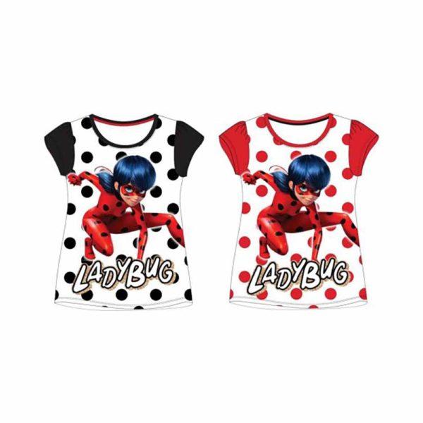 Miraculous Ladybug Katicabogár póló fekete, piros
