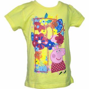 Peppa pig póló sárga