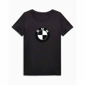 BMW emblémás póló Fekete