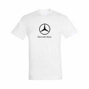 Mercedes emblémás póló - Fehér
