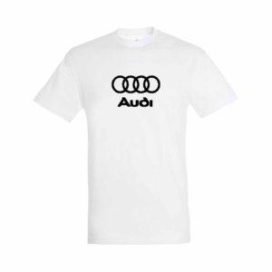 Audi emblémás póló - Fehér