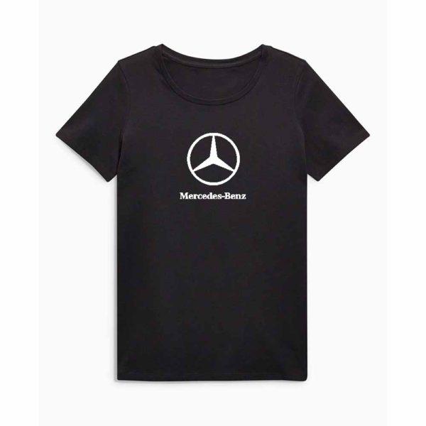 Mercedes emblémás póló - Fekete