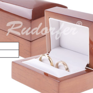 Fa páros jegygyűrű tartó doboz