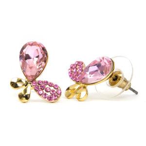 Alysa Swarovski kristályos fülbevaló - Pink Pillangó