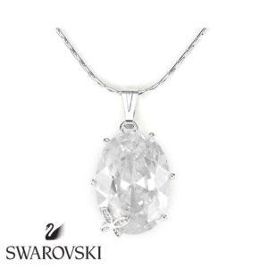 Swarovski kristályos nyaklánc :nagy köves pici virággal