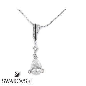 Swarovski kristályos nyaklánc szolid medállal