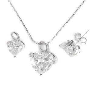Exclusive Swarovski kristályos szett szív alakú kővel