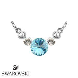 Swarovski kristályos nyakék stílusú kék köves lánc