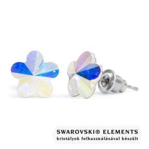 Jazzy színjátszó Swarovski® kristályos fülbevaló - Virág Crystal AB