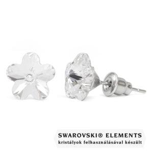 Jazzy átlátszó SWAROVSKI® kristályos fülbevaló - Virág Crystal